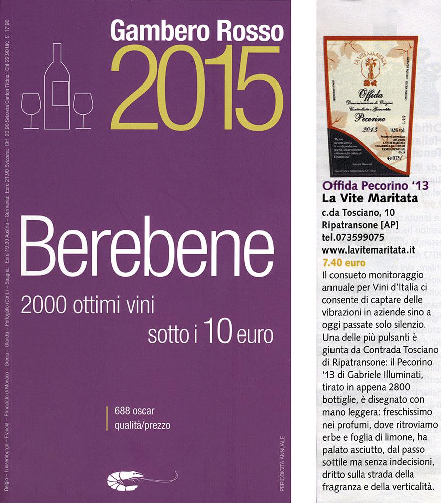 BERE BENE GAMBERO ROSSO 2015
