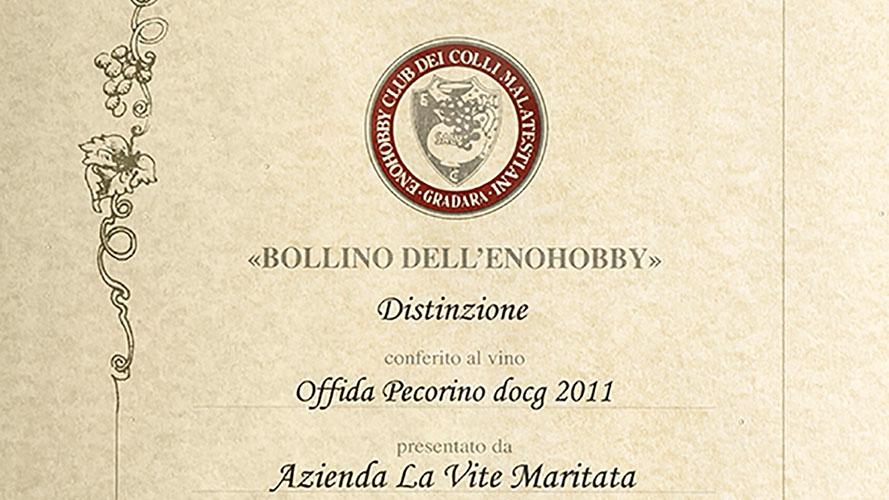 riconoscimento enohobbi offida pecorino 2011
